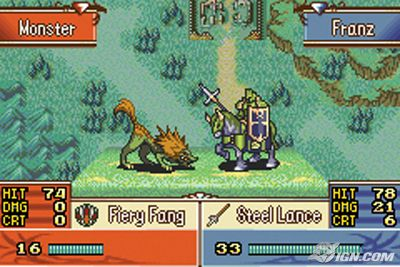 Juego: Fire Emblem The Sacred Stones