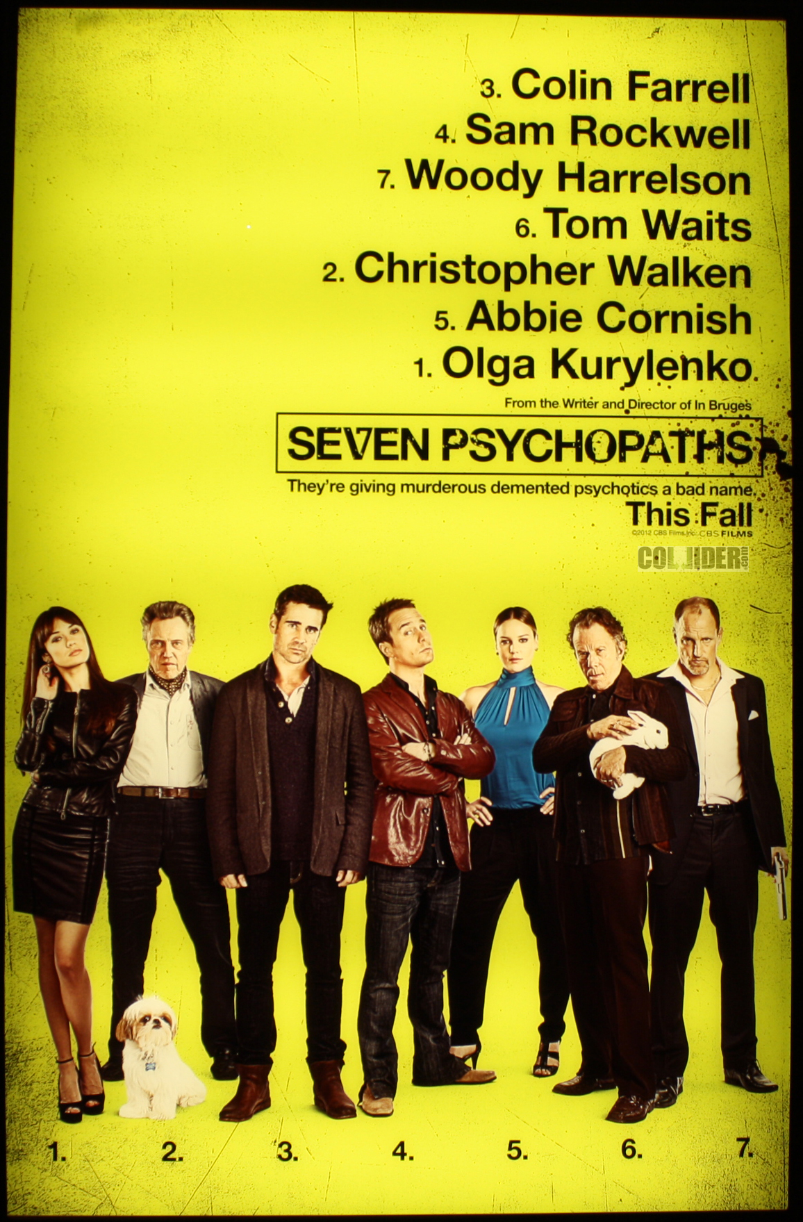 film review seven psychopaths 15 rose red prince seven psychopaths poster